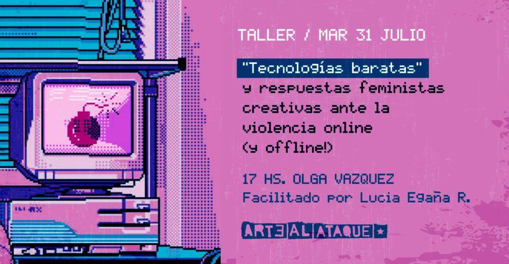 taller de tecnologias baratas y respuestas urgentes_la plata_flyer